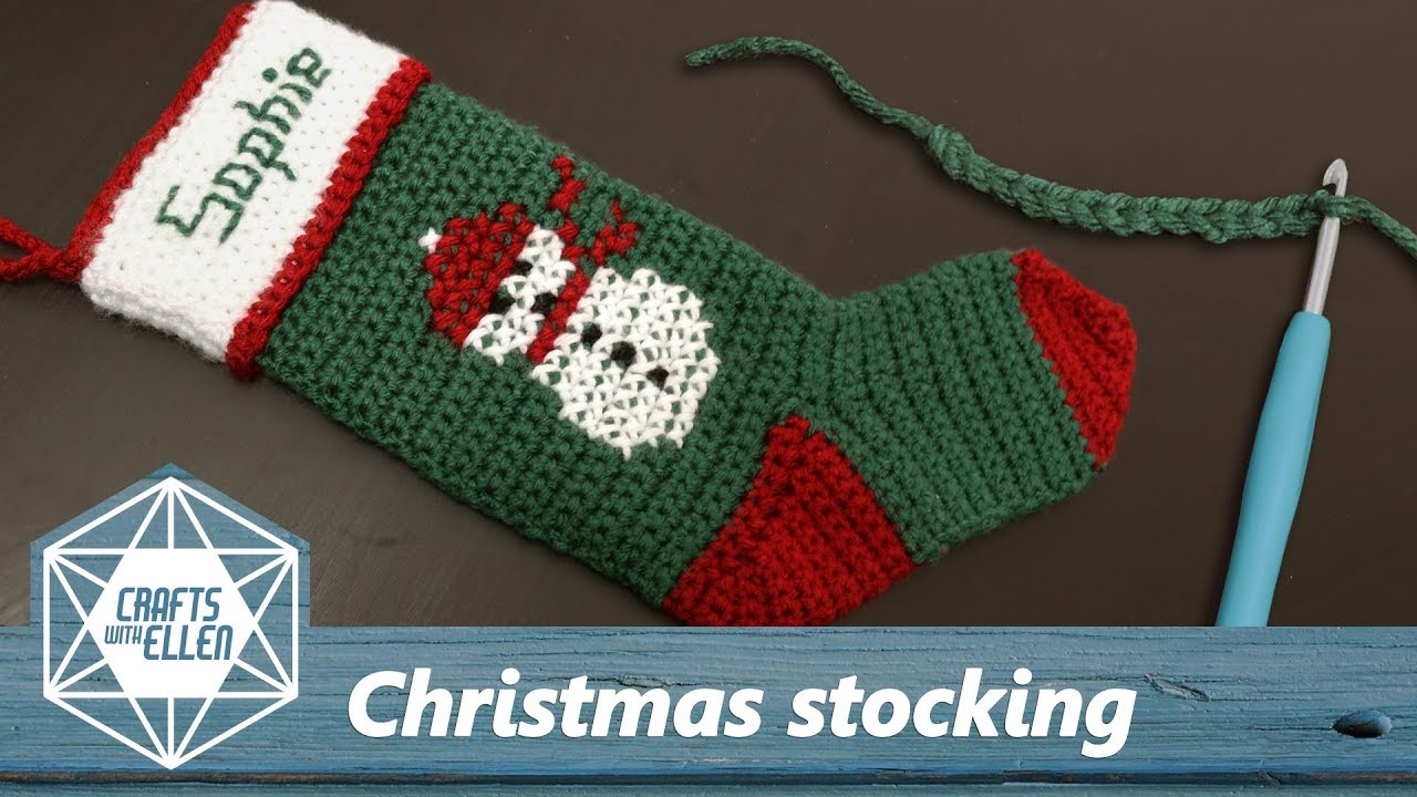 Crochet Christmas Stocking.Making A Christmas Stocking For Sophie Crochet Project