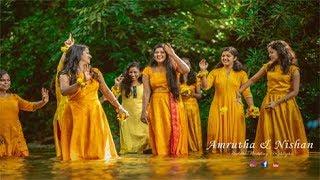 A Colourful Haldi Hindu Wedding Story Amrutha & Nishan
