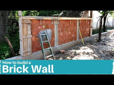 How to Build a Brick Wall - Timelapse