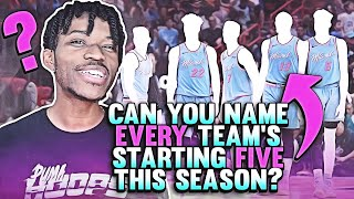 Can You Name EVERY NBA Team's Starting 5 For This Season?
