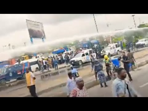 MOMEMT DSS POLICE ATTACKS YORUBA NATION RALLY IN LAGOS WITHOUT SUNDAY IGBOHO