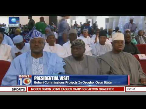 Buhari Commissions Projects In Osogbo, Osun State