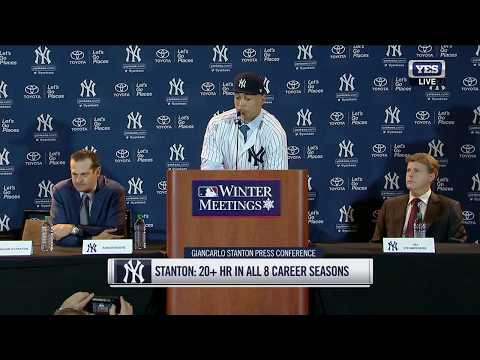 Giancarlo Stanton officially becomes a New York Yankee (FULL PRESS CONFERENCE)