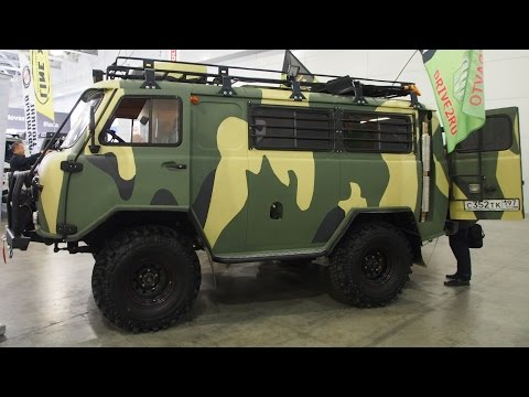 UAZ 2206 Buhanka Luxe Offroad Tuning  -  Exterior and Interior Walkaround - Moscow Offroad Show 2015