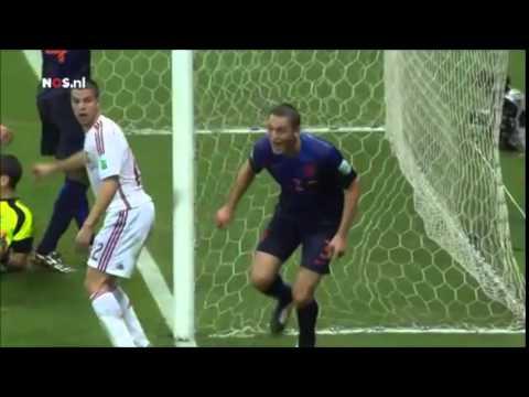 Goals Spain 1-5 Netherlands (Dutch)