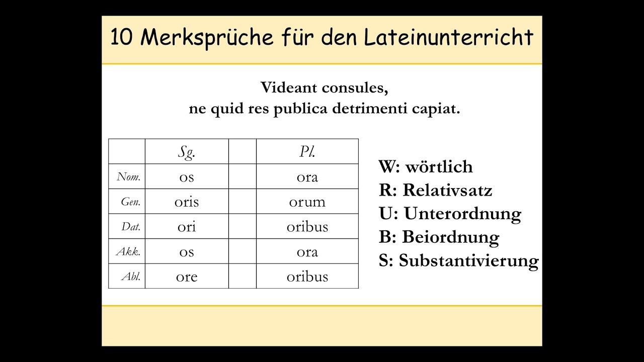 Latein Vokabeln Lernen