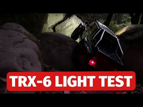 Traxxas TRX-6 6x6 AMG G63 LED Light Test - Impressive!