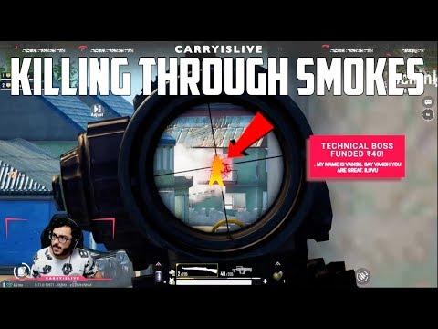 KILLING THROUGH SMOKES | EPIC GAMEPLAY PUBGM | CARRYMINATI HIGHLIGHT
