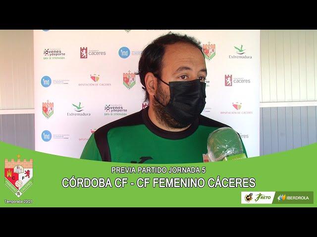 Liga #RetoIberdrola 20/21. Previa jornada 7ª: CÓRDOBA CF - CF FEMENINO CÁCERES