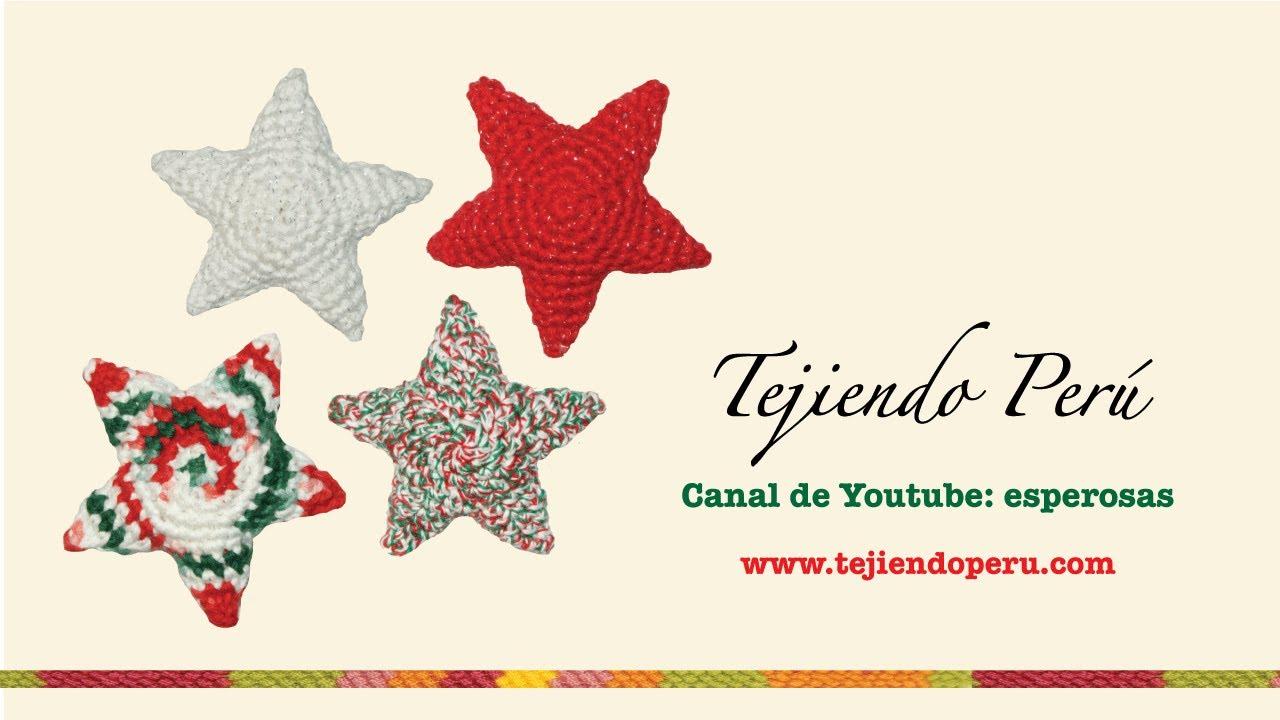 Estrellas de Navidad tejidas a crochet (amigurumi Christmas stars ...