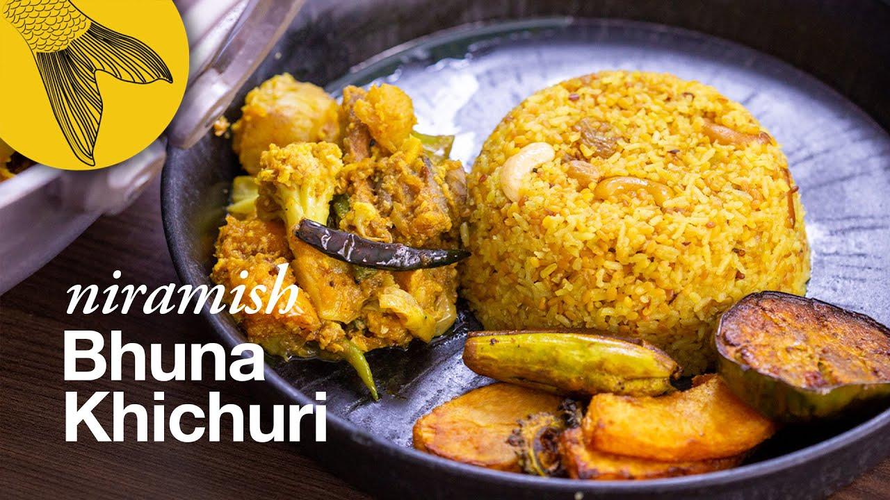 Bhuna Khichuri Recipe—A very special niramish dry khichuri for Lokkhi pujo