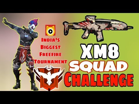 Only XM8 Challenge In Squad || Ranked Match || Garena Free Fire - Desi Gamers