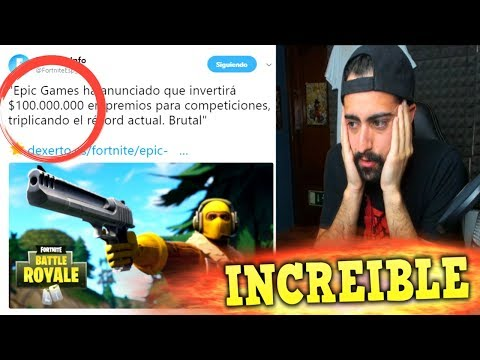 EPIC GAMES INVERTIRÁ $100.000.000 EN PREMIOS PARA COMPETICIONES ! INCREIBLE !!