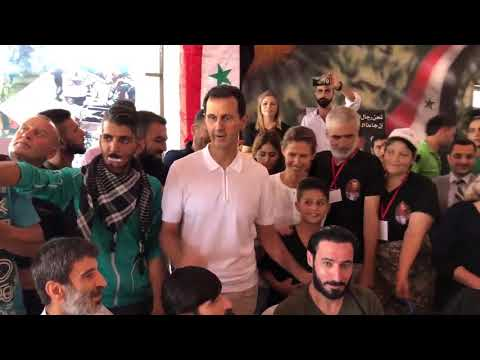 Syria President & First Lady Visit Wounded Soldiers & Children of Fallen Soldiers at a Summer Camp