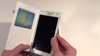 Оригинальный чехол книжка для Samsung Galaxy A7 SM-A700FD S-View EF-CA700BCEGRU Обзор