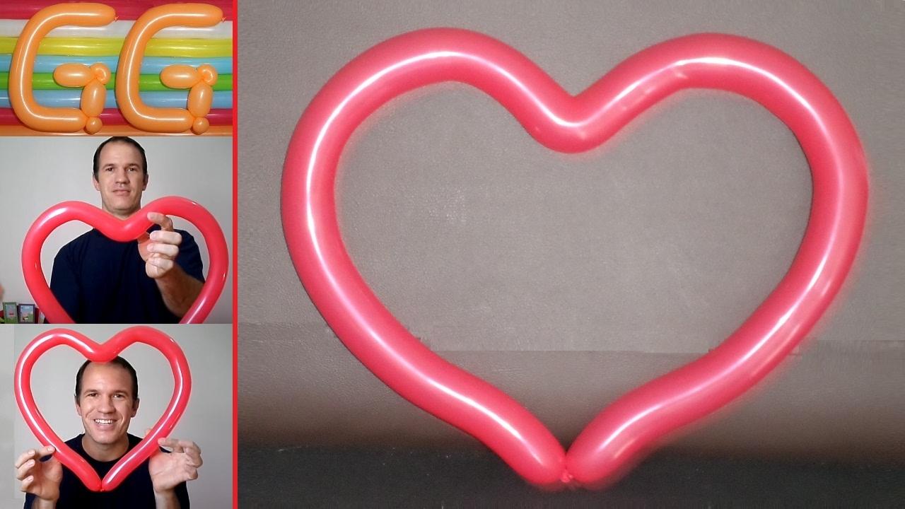 ecd472d0c como hacer corazones con globos largos paso a paso - tutorial ...