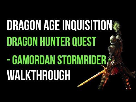 Dragon Age Inquisition Walkthrough Dragon Hunter Quest: Gamordan Stormrider High Dragon