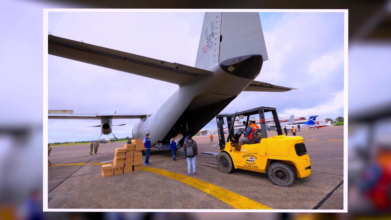 Traslado de personal de salud e insumos médicos a Iquitos