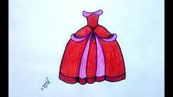 45450f68b كيفية -رسم فستان\للاطفال -تعليم رسم الملابس والازياء - Duration: 4:33.