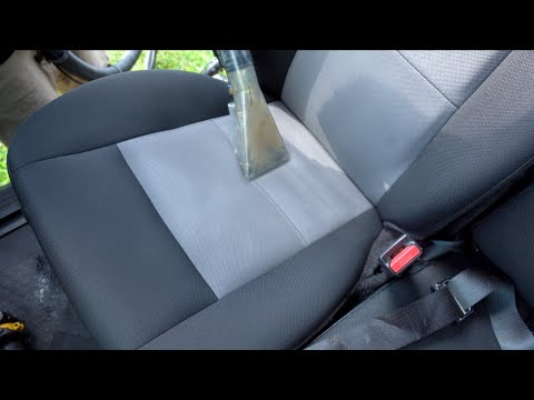 Thorough Car Seat Cleaning and Shampoo After 5 Owners - Interior Car Cleaning