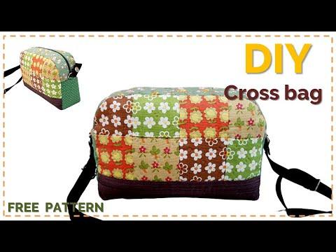 [Sewing] DIY 퀼트 가방 크로스백, 숄더백  패치워크 무료도안(Free Pattern)