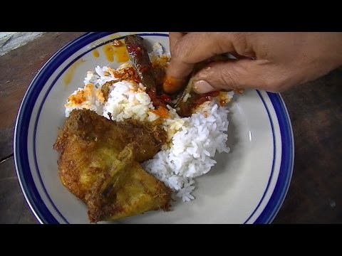 Jakarta Street Food 467 Mixed Rice with Fried Chicken Chilly Egg Plant Nasi Campur BR TV 3336