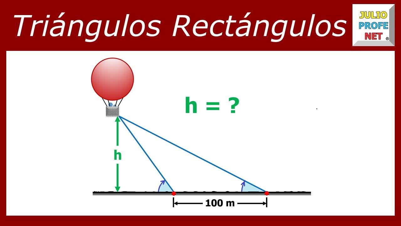 Problema 1 de TRIGONOMETRA EN TRINGULOS RECTNGULOS  YouTube