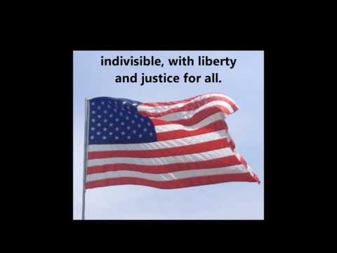The Pledge of Allegiance song words lyrics USA UNITED STATES Patriotic School Assembly Citizenship
