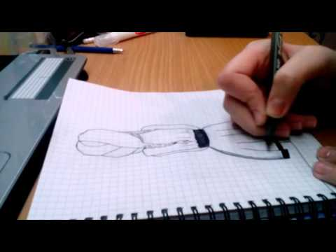 Рисуем вместе ДЕВУШКА (ручкой, со спины)