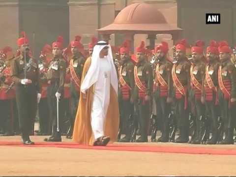 Watch: Abu Dhabi Crown Prince Mohammed bin Zayed Al Nahyan accorded ceremonial reception - ANI #News