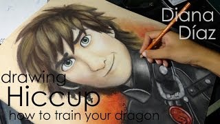 Speed Drawing: Hiccup (How To Train Your Dragon) | Diana Díaz