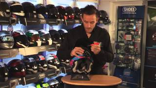 SHOEI VFX-W chin vent cleaning