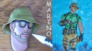 Marino Skin (fortnite battle royale) - Polymer clay Tutorial
