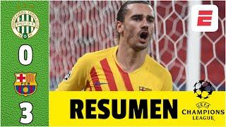 Ferencváros 0-3 Barcelona ESPECTACULAR. Goles de Griezmann, Dembélé y Braithwaite | Champions League
