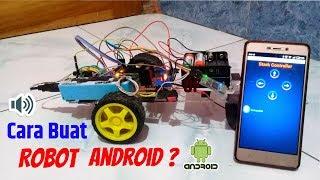 Cara membuat mobil robot arduino dikontrol dengan android