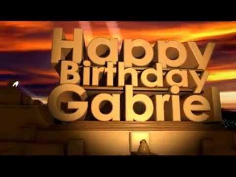 happy birthday gabe Happy Birthday Gabriel   YouTube happy birthday gabe