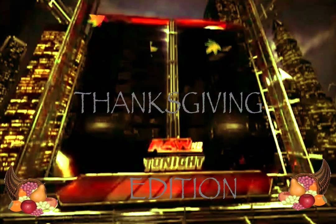 wwe blank matchcard thanksgiving edition 720 youtube