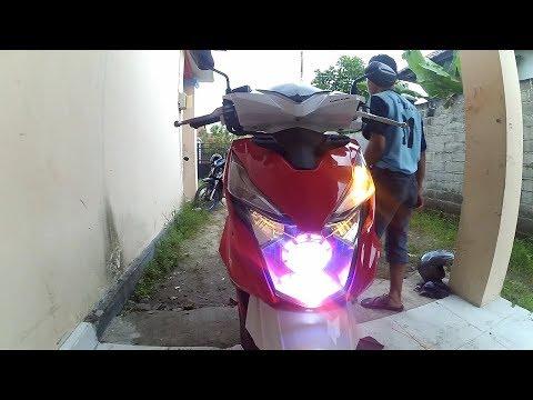 Cara Memasang Lampu Eagle Proji Di Motor Beat Youtube