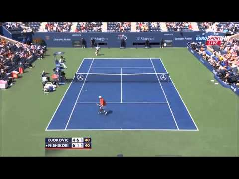 Djokovic vs Nishikori Us Open 2014 (HD)