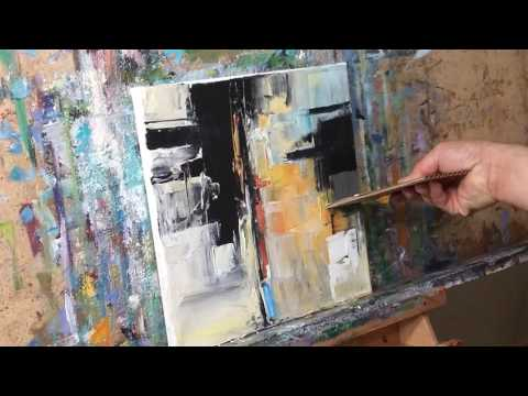 Abstract Expressionist Oil Painting Demo, Session by Artist