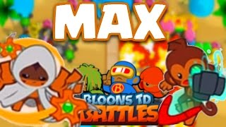 Bloons TD Battles | MAX LEVEL TIER 4 BOOMERANG THROWER! | Glaive Lord & Turbo Charge