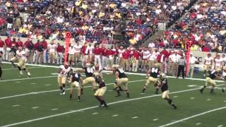 navy vs vmi football game wrestlers tailgate 2012