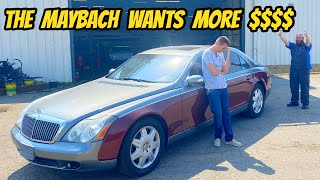 homepage tile video photo for My Maybach 57 might be UNFIXABLE! Back for more repairs!