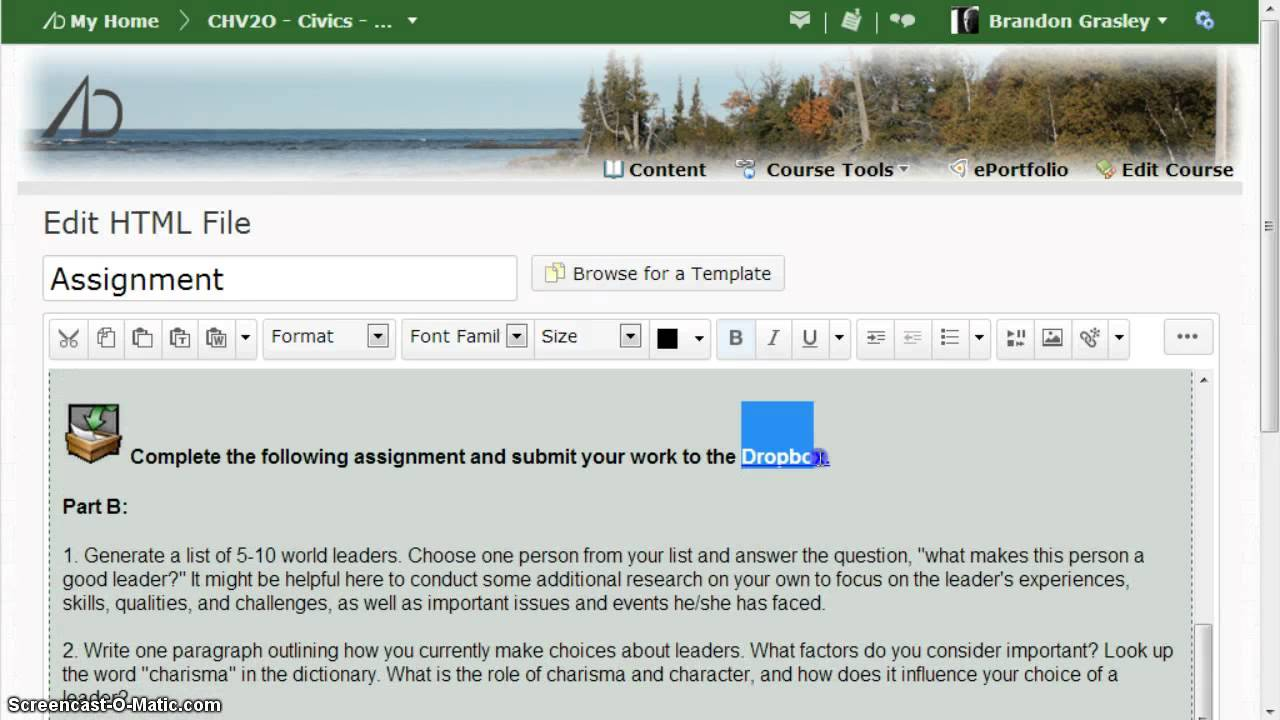 Correcting a broken Dropbox link in #D2L - YouTube