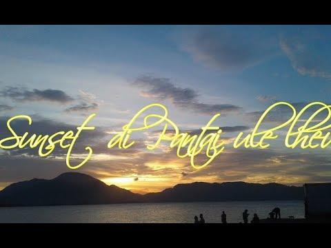 Melihat sunset di pantai ule lheu banda aceh