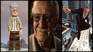RIP STAN LEE 1922- 2018   All Stan Lee Video Game Cameo Appearances