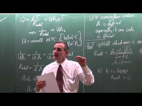 Lecture 33 (2013). 11.2 Overall heat transfer coefficient of heat exchangers