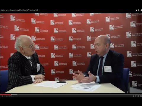 Matthew Layton, Managing Partner, Clifford Chance LLP, Interview at UWE Bristol
