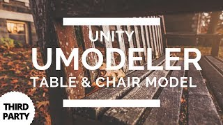 Unity UModeler - Cartoon Table & Chair Modelling