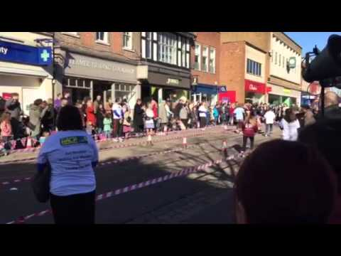 Mercer & Hole compete in the St Albans Pancake Race